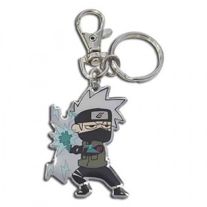 Naruto Shippuden Kakashi Hatake with Lighting Blade Metal Keychain Keychains