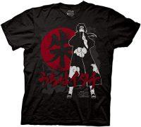 Naruto Shippuden Itachi Symbols Crew T-Shirt T-Shirts