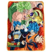 Dragon Ball Super Broly Group Sublimation Throw Blanket Blanket