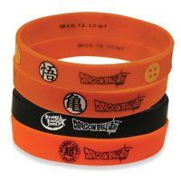 Dragon Ball Super Logo PVC Wristband Bracelet 4-Pack Bracelet