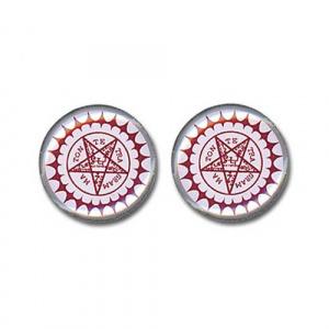 Black Butler Pentagram Earrings Jewelry