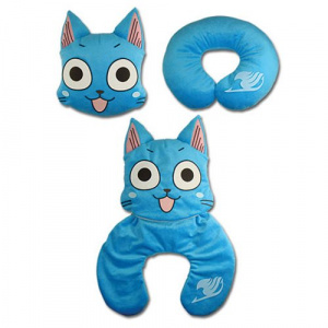 Fairy Tail Happy Neck Pillow Pillows & Cushions
