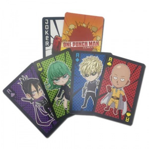One Punch Man Chibi Characters Playing Cards Playing Cards