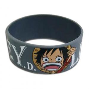 One Piece Monkey D. Luffy PVC Wristband Bracelet Jewelry