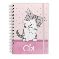 Chi's Sweet Home Purrty in Pink Spiral Notebook Journals