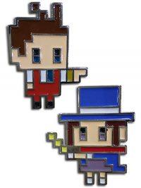 Ace Attorney Apollo & Trucy Pin Set Pins