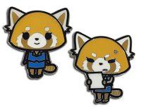 Aggretsuko – Happy To Annoyed Metal Pin Pins
