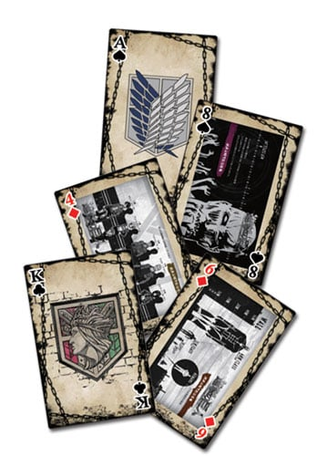 Attack On Titan Eye Catching Artwork Playing Cards Playing Cards 4
