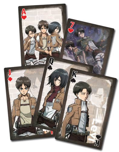 Attack On Titan Group Playing Cards – Style 2 Playing Cards