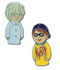 Death Note Kira & Near Puppet Pin Set Pins