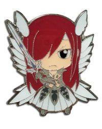 Fairy Tail S8 Chibi Erza in Heaven's Wheel Armor Enamel Pin Pins