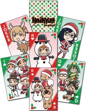 Haikyu!! Christmas Chibi Group Playing Cards Playing Cards