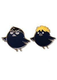 Haikyu!! S2 – Hinata Crow & Kazume Cat Pin Set Pins