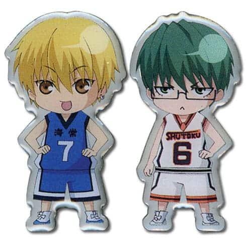 Kuroko's Basketball Ryota And Yukio Chibi Metal Pin Set Pins