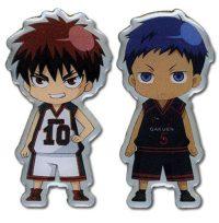 Kuroko's Basketball Taiga And Aomine Chibi Metal Pin Set Pins