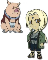 Naruto Tsunade & Tonton Metal Pin Set Pins
