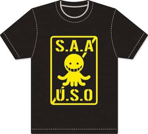 Assassination Classroom – Logo Men Screen Print T-Shirt T-Shirts