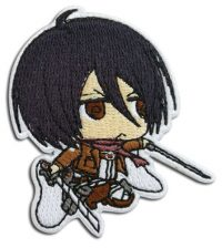 Attack On Titan S2 – Mikasa Chibi Embroidered Patch Patches