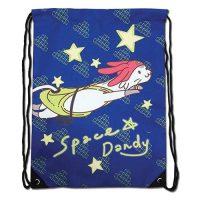 Space Dandy Meow Drawstring Bag Drawstring Bags