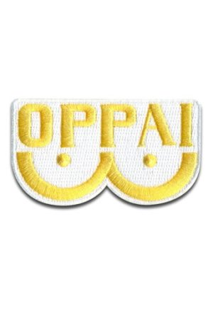 One Punch Man OPPAI Logo Embroidered Patch Patches