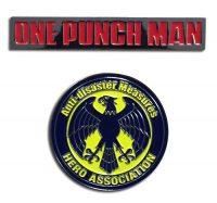 One Punch Man Hero Association & OPM Logo Pin Set Pins