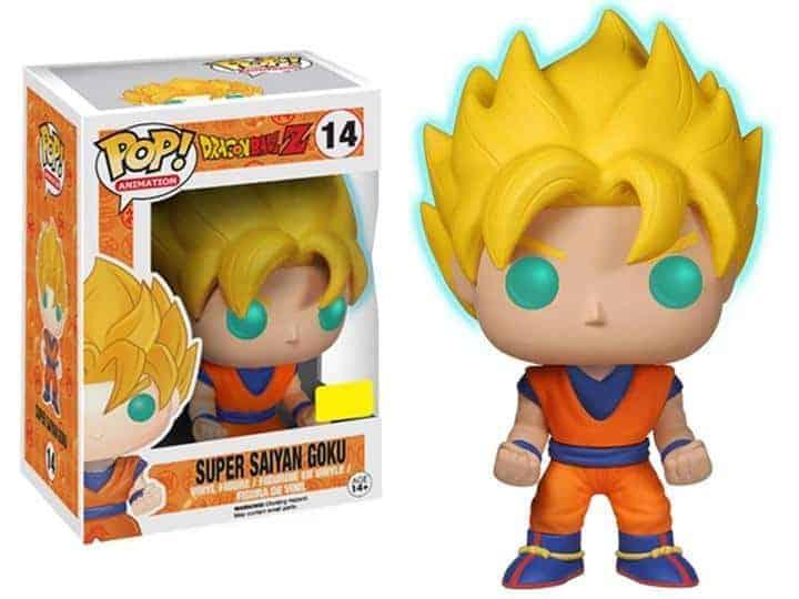 Dragon Ball Z Glow-in-the-Dark Super Saiyan Goku Pop! Vinyl Figure – Exclusive Figures