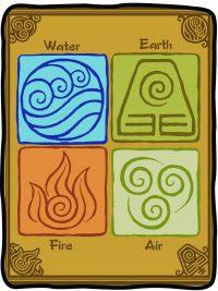 Avatar The Last Airbinder The Four Elements Fleece Throw Blanket Blanket