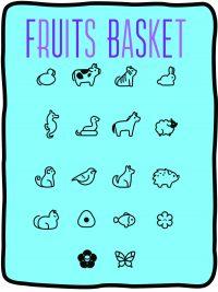 Fruits Basket Fleece Throw Blanket Blanket