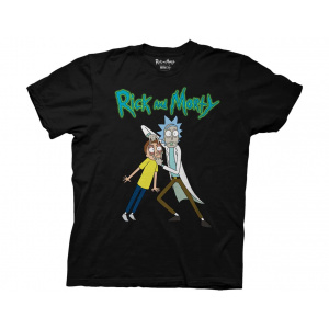 Rick & Morty Rick Holding Mortys Eyes Adult T-Shirt T-Shirts