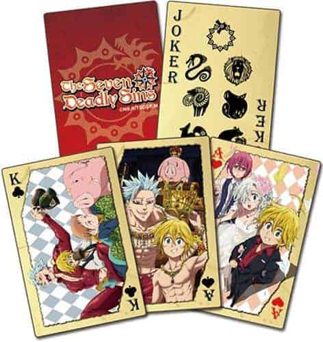 The Seven Deadly Sins Group Playing Cards Playing Cards