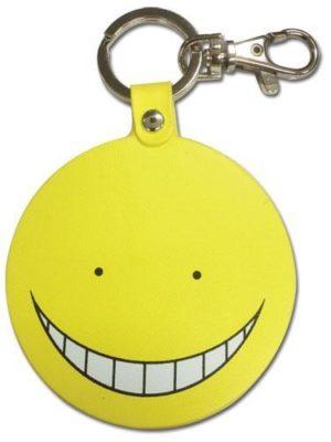 Assassination Classroom Koro Sensei Yellow Smiling PU Keychain Keychains