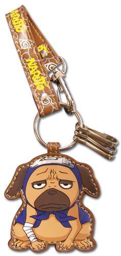 Naruto Pakkun Leather Keychain Keychains