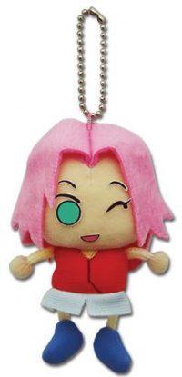 Naruto Shippuden Winking Sakura Plush Keychain Anime Plushies