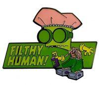 Invader Zim  Filthy Human! Enamel Pin Pins