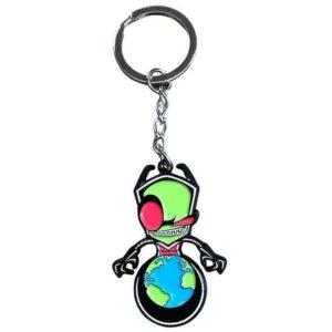 Invader Zim Zim Seeking World Domination Keychain Keychains