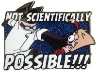 Invader Zim Not Scientifically Possible!!! Enamel Pin Pins