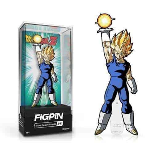 Dragon Ball Z Super Saiyan Vegeta FiGPiN Enamel Pin Pins