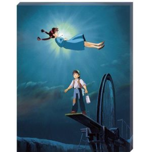 Castle in the Sky The Girl Who Fell From The Sky Artboard Canvas Style 366-Piece Jigsaw Puzzle Puzzles
