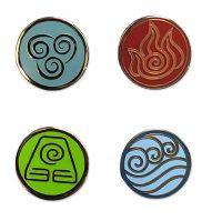 Avatar: The Last Airbender Elemental Bending Arts Enamel Pin Set Pins