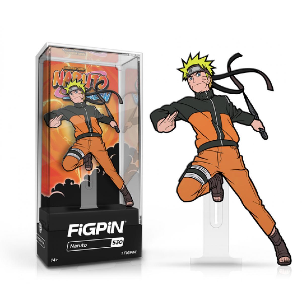 Naruto Shippuden Naruto Uzumaki FiGPiN Classic Enamel Pin Pins 4